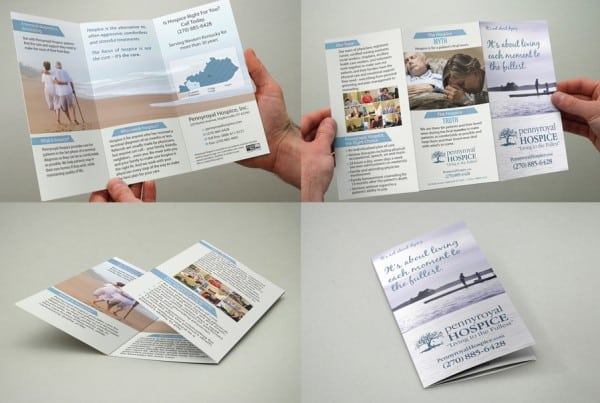 4 way view, Hospice Tri-Fold Brochure