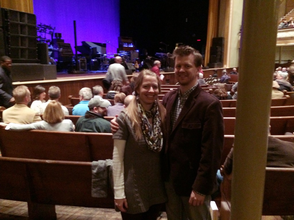 At the Ryman to see Pat Metheny Unity Band