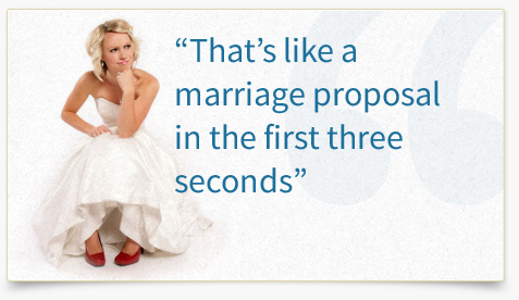 A site with nothing but promotion is like a marriage proposal after 3 seconds