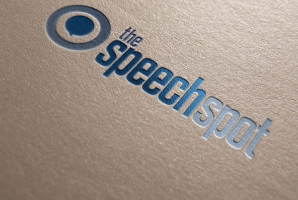 the Speechspot Logo presented on paper